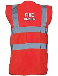 Brand88 - Fire Warden, Printed Hi-Vis Vest Waistcoat