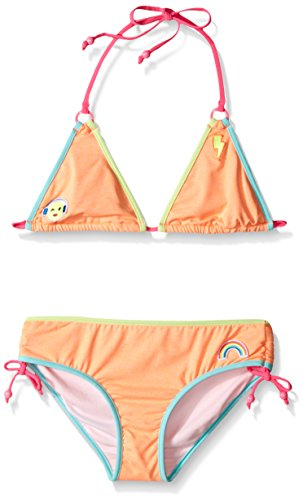 Seafolly Big Girls' Neon Pop Trikini, Rock Melon, 12 (Water Melon Bikini)