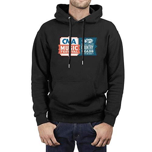 Mans Hoodies Cracker-Barrel-Country-CMA-Music-Festival-Logo-Black Nice Premium Family Long Sleeve Pullover (Cracker Barrel Christmas Music)