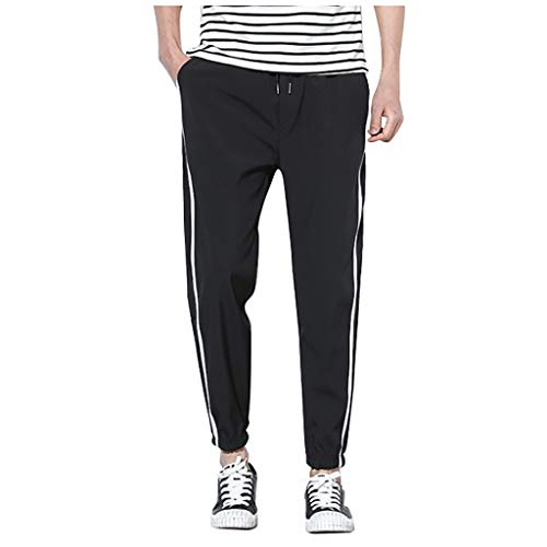 Men's Workout Tapered Pants|Men Relaxed Fit Gym Jogger Side Striped Training Trousers |Casual Comfy Drawstring Running Athletics Sweatpants