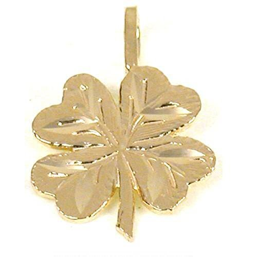 14K Gold Charm 4 Leaf Clover Irish Good Luck Jewelry 14k Yellow Gold Leaf