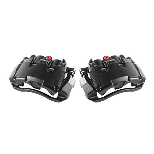 Callahan CCK05305 [2] FRONT Premium Semi-Loaded Black Brake Caliper Pair + Hardware Kit [ for Dodge Dakota Ram 1500 ]