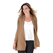 WoolOvers Womens New Cashmere and Merino Relaxed Rib Knitted Cardigan