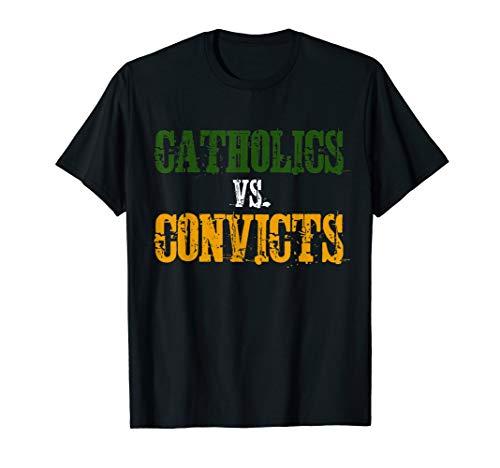 Catholics Vs. Convicts 1988 Classic T Shirt Vintage