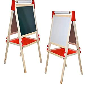 Amazon Com Deluxe Standing Art Easel Dry Erase Board