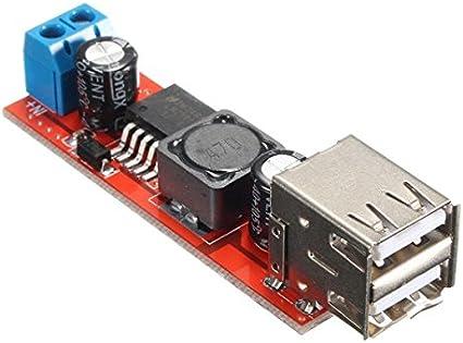 Ils - Dual USB 9V/12V/24V/36V to 5V Converter DC-DC 3A Step Down Power Module