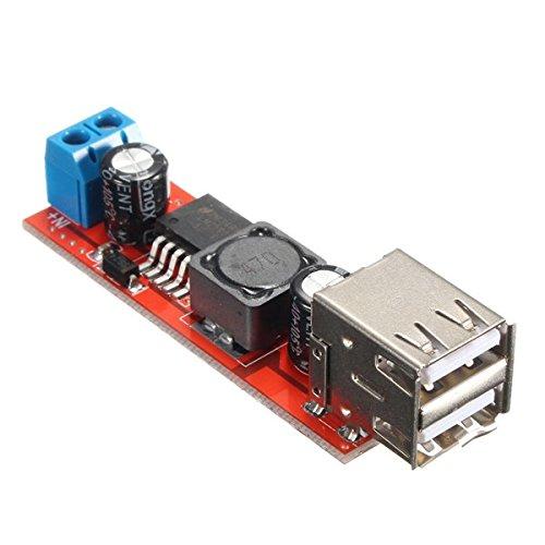 Ils - Dual USB 9V/12V/24V/36V a Convertidor de 5V DC-DC 3A Mó dulo de Potencia Descendente I LOVE SHOPPING