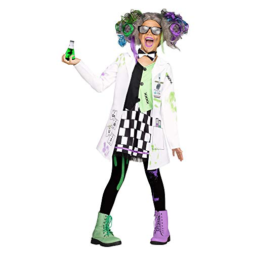 Fun World Mad Scientist Girl Costume, X-Large 14-16, White -
