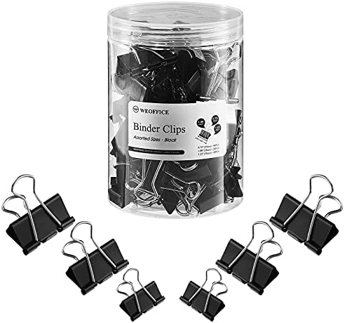 WEOFFICE Assorted Sizes Binder Paper Clips –...