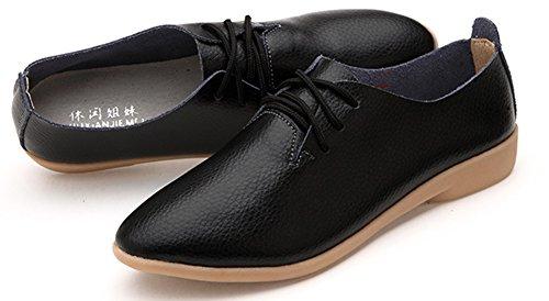 Chaussures Femme Basse Jeune Mode Derbies Noir Pour Travail Aisun nqwHx7w
