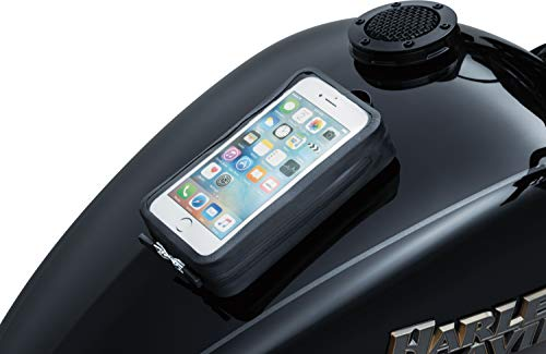 Kuryakyn 5253 Motorcycle Accessory: Quick-Stash Water Resistant GPS Device/Phone Holder Magnetic Pouch for Steel Gas Tanks, Black ()