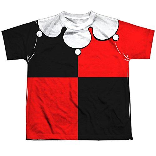 [Trevco Youth Batman Quinn Costume Polyester Short Sleeve T-Shirt Small White] (60s Costume Ideas For Boys)