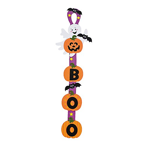 Fun Express - Ghost Door Hanger Craft Kit for Halloween - Craft Kits - Hanging Decor Craft Kits - Sign Decoration Craft Kits - Halloween - 12 -
