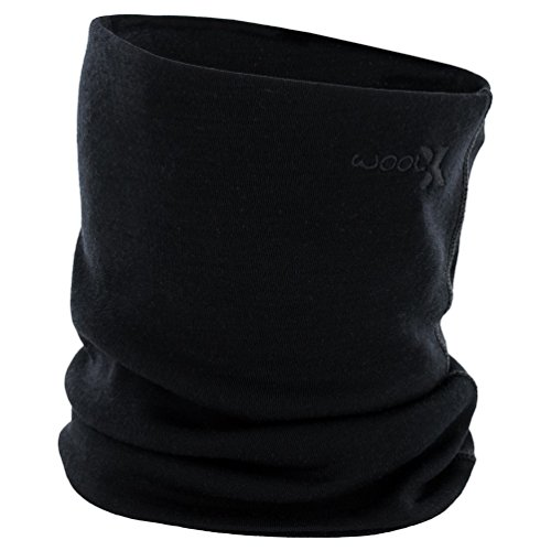 Woolx Unisex Merino Wool Neck Gaiter For Men & Women - Warm and Soft - Black by WoolX