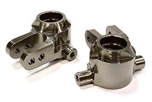 Integy RC Model Hop-ups T8594GREY Billet Machined T2 Steering Block (2) for 1/10 Stampede 4X4 & Slash 4X4 - Integy Alloy Steering Block