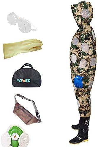 養蜂スーツ/蜂防護服、ベール付き、帽子付き換気用コンフォート - 初心者および商用の養蜂家向け,camouflage-S