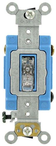 Leviton 1203PLC 15 Amp 120 Volt Toggle Pilot Light Neutral 3Way