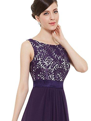 Ever-Pretty Womens Sleeveless Elegant Formal Black Tie Affair Dress 16 US Purple