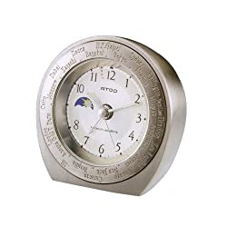 ATOP World Time Unique Travel Alarm Clock WB-1 Bauhaus model