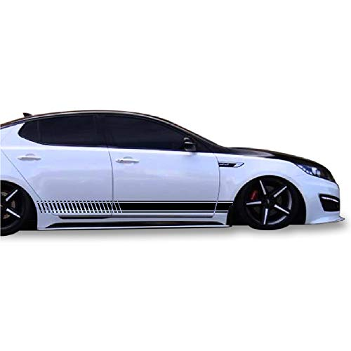 Bubbles Designs Decal Sticker Vinyl Side Sport Stripe Kit Compatible with Kia Optima 2010-2015 ()