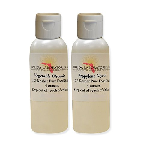 2- 4oz Vegetable Glycerin & Propylene Glycol USP Kosher VG PG 99.9% Pure Food Grade