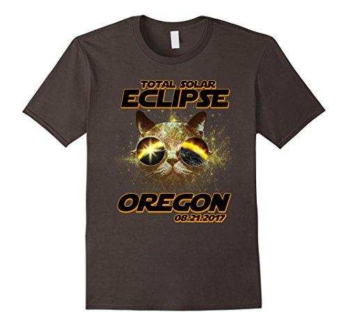 Mens Oregon Cat With Eclipse Sunglasses T-shirt Cat Lovers Small - Sunglasses Oregon