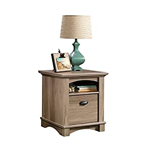 Sauder harbor view end table in salt oak for Oak harbor furniture