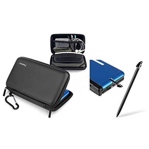 Zip Case Eva Dsi (Insten Compatible With Nintendo 3DS XL / LL Black Eva Case + Black Stylus)