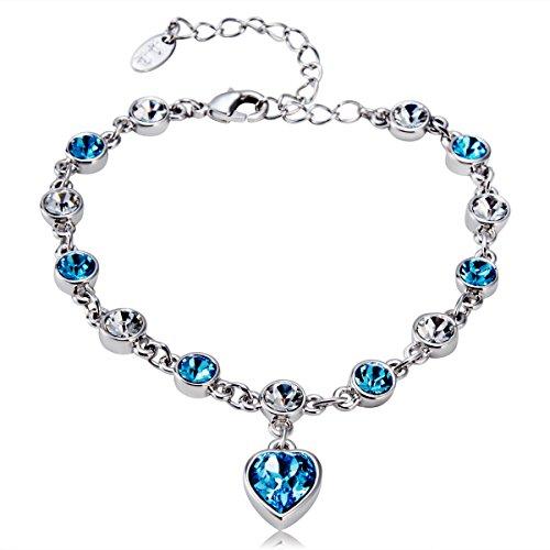 Fashionable Crystal Bracelets Open Alloy Bracelet Valentine Day Gifts❧⁂