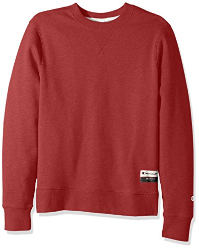 - Champion Men's Authentic Originals Sueded Fleece Sweatshirt, Carmine Red Heather, Large