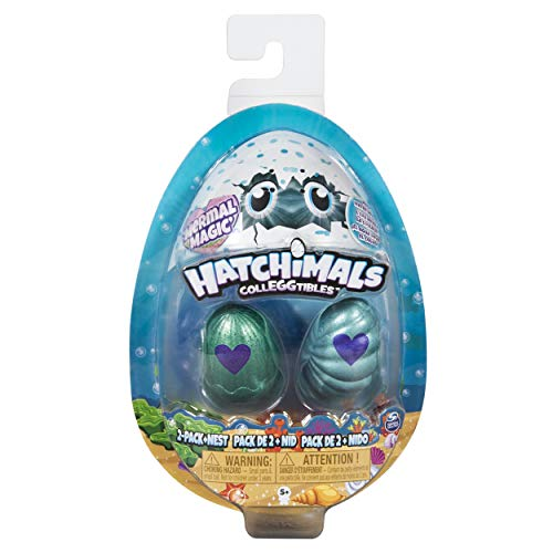 Hatchimals CollEGGtibles, Mermal Magic 2 Pack + Nest with Season 5 (Styles May Vary)