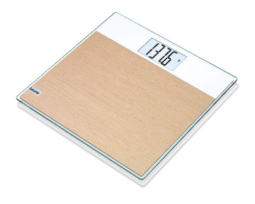 Beurer Digital Glass Body Scale With Wood Accent, GS21 by Beurer North America