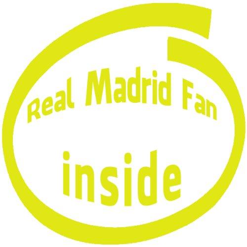 Fan Inside Vinyl (Real Madrid Fan Inside , Vinyl Car Decal, 'Black', '5-by-5 inches')