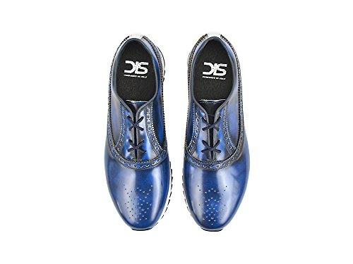 DIS Nerva - Running Bassa Pelle abrasivata Blu La tua running bassa in pelle abrasivata , 100% made in Italy e personalizzabile