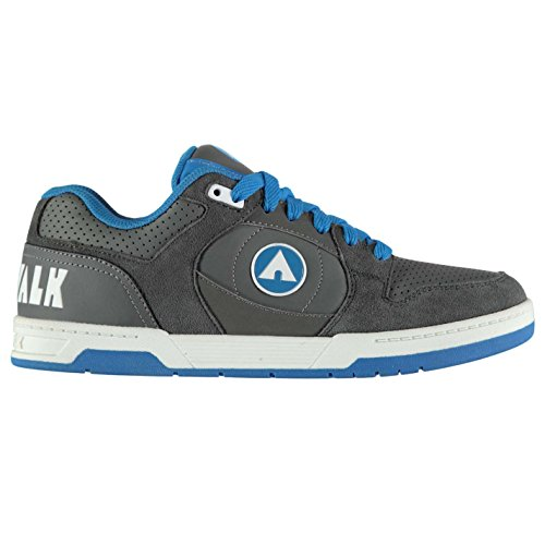 Airwalk Mens Throttle Skate Shoes Lace Up Charcoal/Blue UK 10.5(44.5)