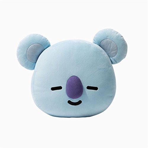 E-SCENERY 2018 New Cute Cartoon Doll, BTS BT21 Bangtan Boys Kpop Throw Pillow Perfect for Sofa Home Decor, Nice Gift, 16×12'' (Koya)