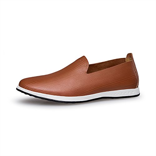 ZRO Mens Soft Casual Shoe Slip-on Fashion Loafer breathable Light Brown mJvlwYnp