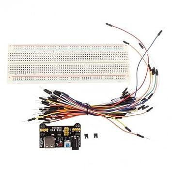 Tanzimarket - Alta calidad MB -102 MB102 placa sin soldadura Fuente de alimentación del cable de puente Kits para Arduino: Amazon.es: Electrónica