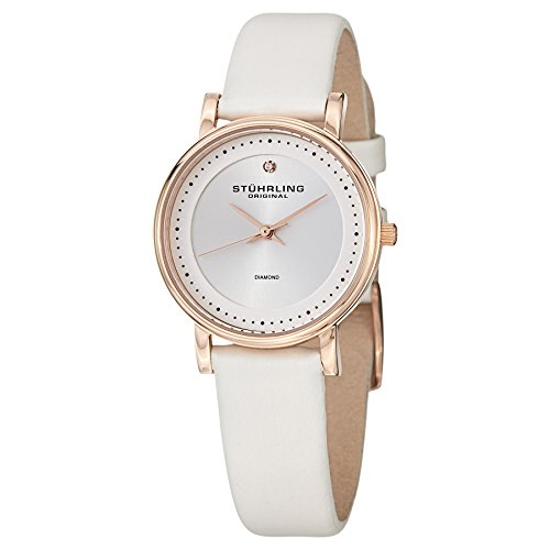 Stuhrling Original Women's 734L.04 Classic Ascot Castorra 16K Rose Gold Diamond-Accented Watch