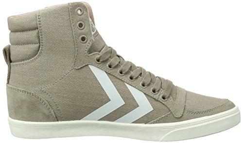 Hummel Slanker Stadil Visgraat Hoog (hoog Sneakers), Sneakers Comfortabel Vrouwen, Canvas Sneakers Van Suede / Denim (denim) Met Veters, Gewatteerde Hiel, Sportieve Casual Schoenen Bruin (schimmels)
