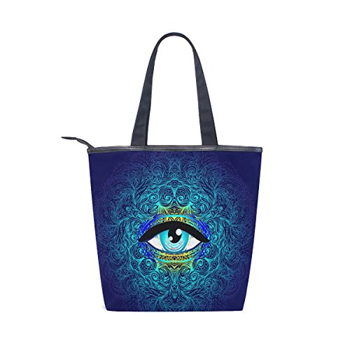 MyDaily Womens Shoulder Tote Handbag Geometry Canvas Eye Mystic Seeing Bag All BFBqrzxE