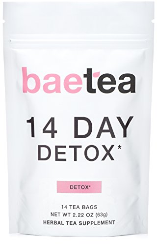 Baetea 14Day Teatox Herbal Detox Tea Supplement with Green Tea amp Ginger Root 14 Tea Bags