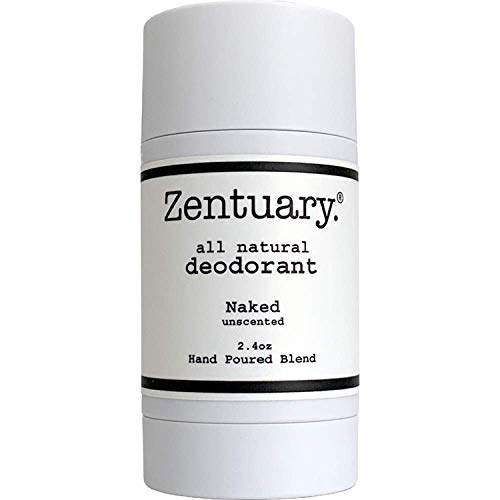 Zentuary Aluminum Free Natural Deodorant (Unscented) Works All Day! - Organic, Non Toxic - Phthalate, Paraben, Gluten & Cruelty Free - Natural Deodorant for Women, Men & Kids