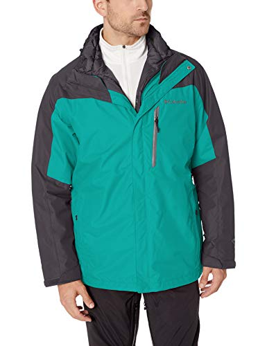 Columbia Men's Whirlibird Iii Interchange Jacket, Glacier Green/Shark, Medium