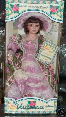 Timeless Treasures Katherine Collection ( Victorian Fur / Porcelain Doll - 2002 ) (Vanessa Collection Porcelain Doll)