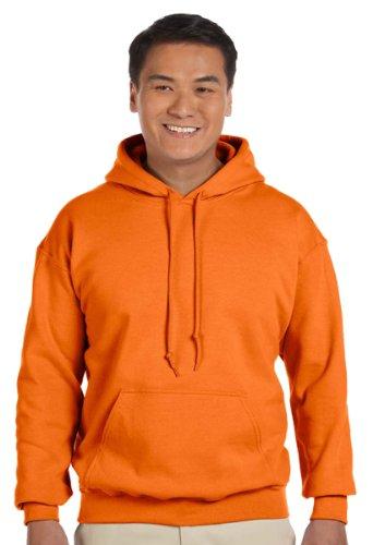 Gildan Men's Heavy Blend Drawcord Hooded Sweatshirt, XXXXX-Large, Safety Orange