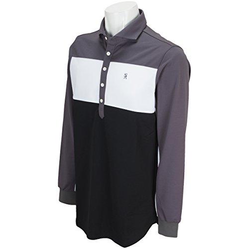 セント?アンドリュース St ANDREWS 長袖シャツ?ポロシャツ 鹿の子長袖ポロシャツ グレー 020 3L