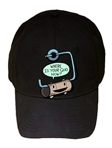 Funny Empty Toilet Paper Roll Where is Your God Now? - 100% Cotton Adjustable Hat