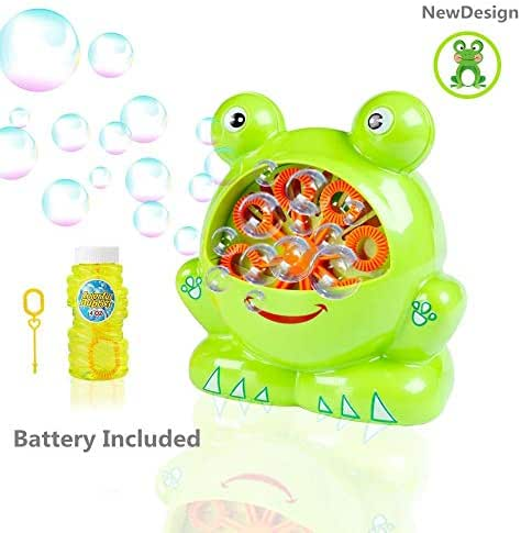 Morcare Automatic Bubble Machine, Portable Bubble Hurricane Machine Toys for Kids, More Than 500 Bubbles Per Minute, with Bubble Solution