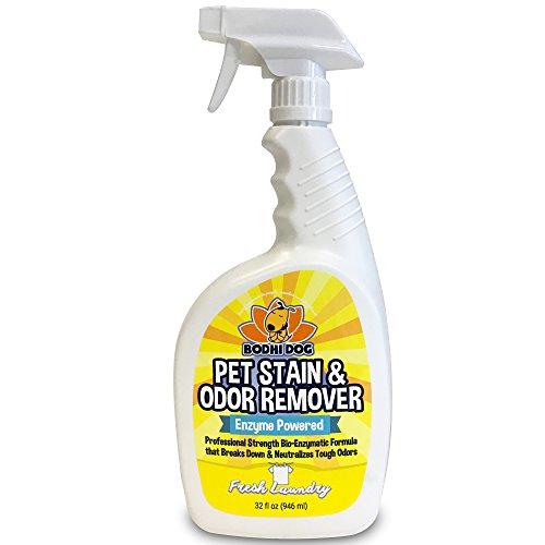 New Natural Enzymatic Carpet & Stain Remover Professional Strength Enzyme Pet Odor Spray Eliminator   Eliminates & Cleans Dog & Cat Smells   Deodorizer Sanitizer Cleaner Urine & Pee 32oz (Fresh Linen)